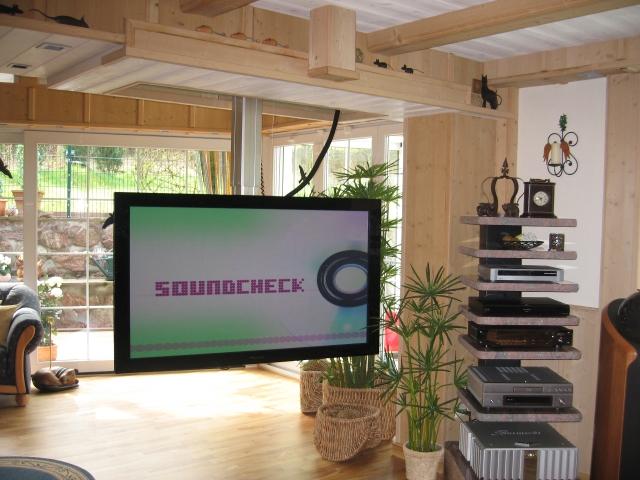 TV Hebesystem draussen Pop Down