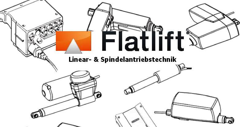 Elektrische Linearantriebe, elektrische Spindelantriebe, elektrische Antriebe von Flatlift. Jetzt Beraten lassen unter +49 6241 30560-0