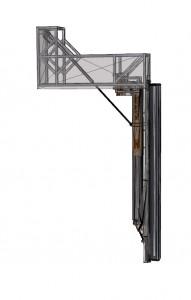 Hier siehst Du den Flatlift Speakerlift in der ersten Position, ausgeklappt, fertig nach unten zu fahren.