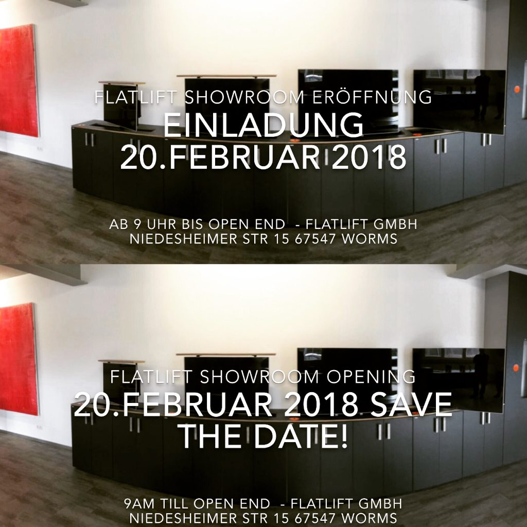 Invitation / Einladung Flatlift Showroom Opening!