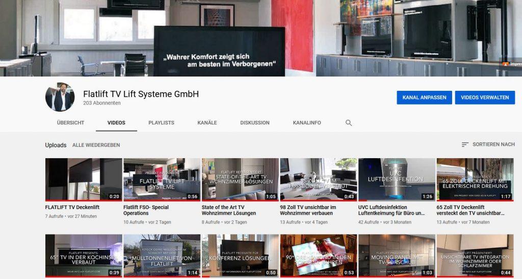 Flatlift Youtube Channel